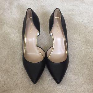 Merona black leather-like pumps